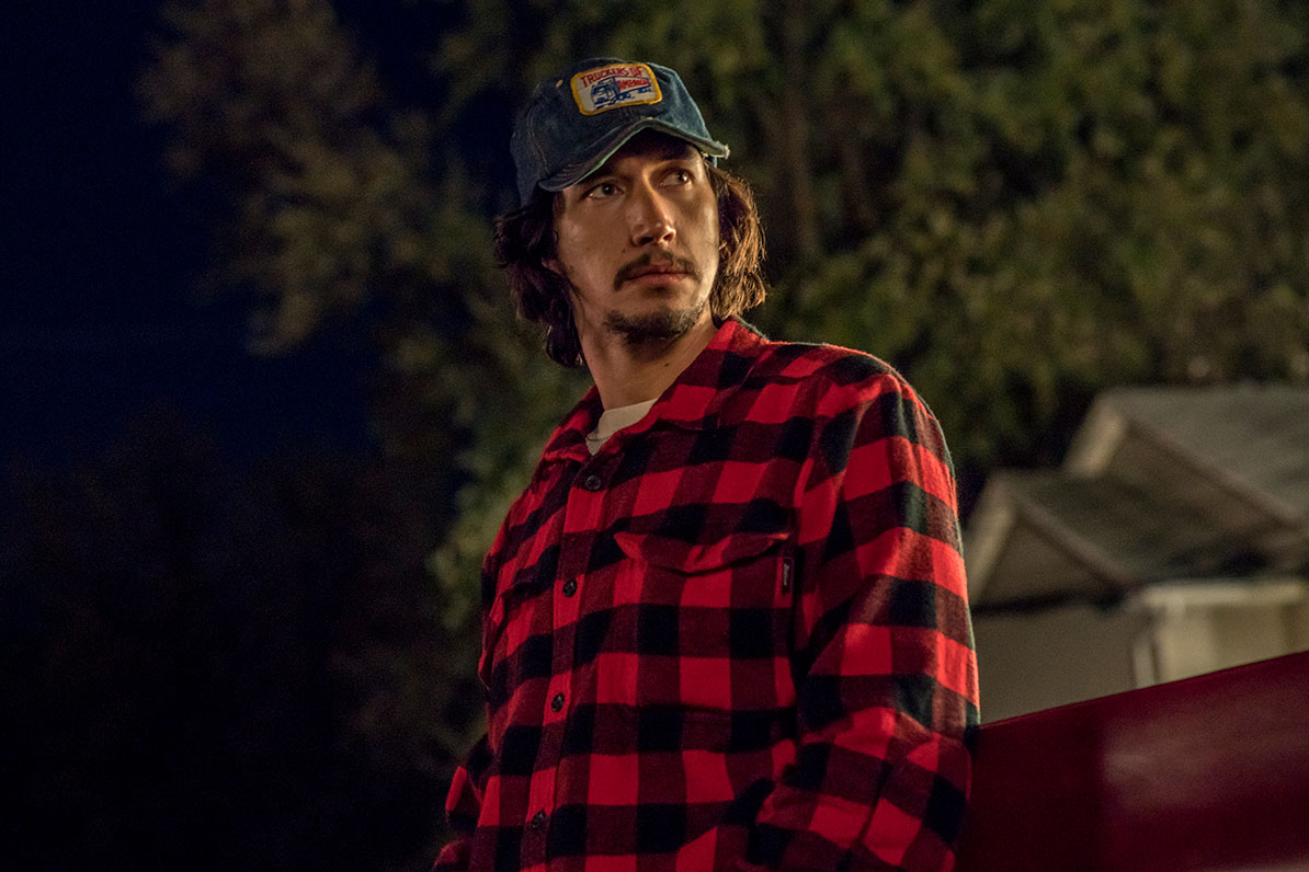 Adam Driver as Flip Zimmerman in BlacKkKlansman.