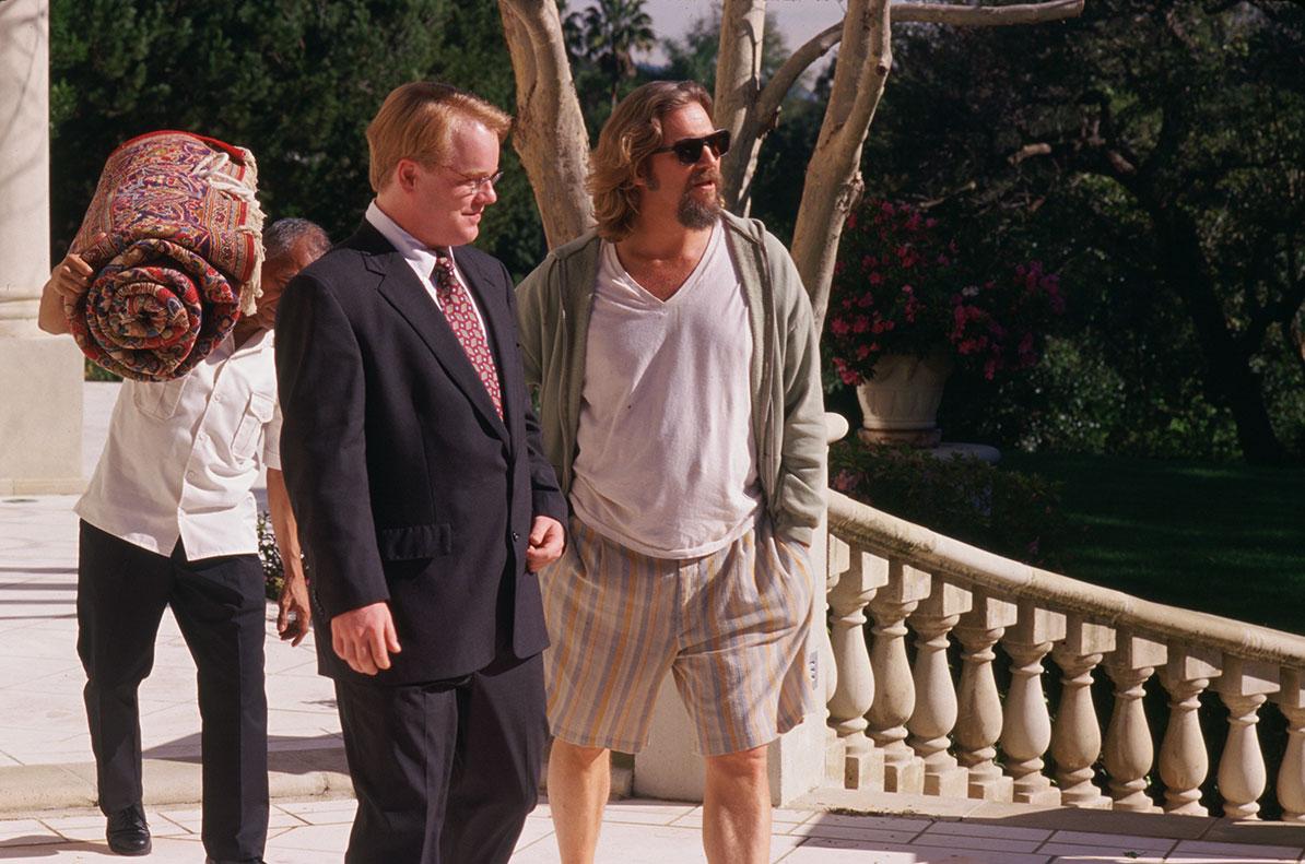 Philip Seymour Hoffman as 'Brandt' and Jeff Bridges as 'The Dude' | The Big  Lebowski Movie | Focus Features